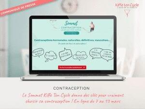 Communiqué de Presse Sommet de la contraception Kiffe ton Cycle
