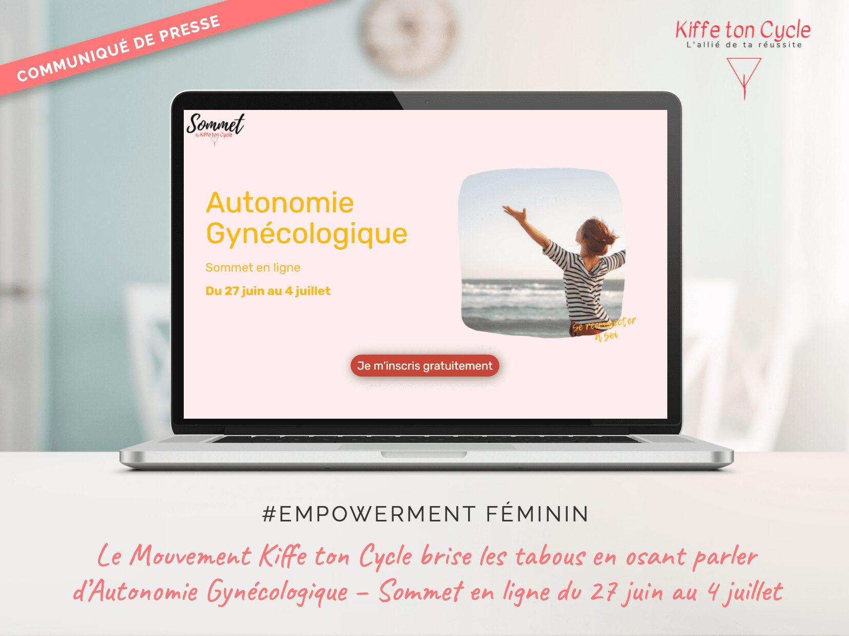 communiqué de presse sur l'autonomie gynécologique empowerment féminin